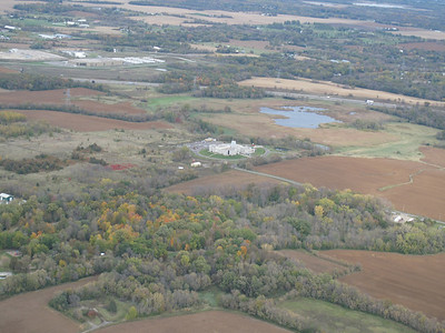 Aerial view of the temple on October 2009