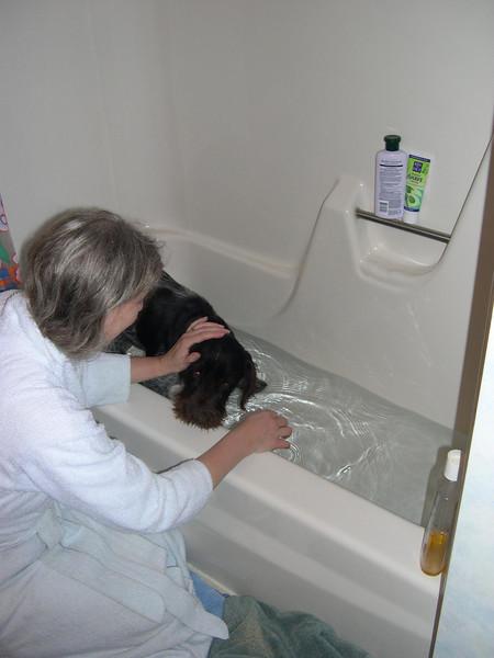 First bath.