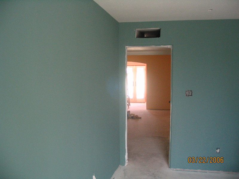 Guest bedroom, looking through to the master bedroom.