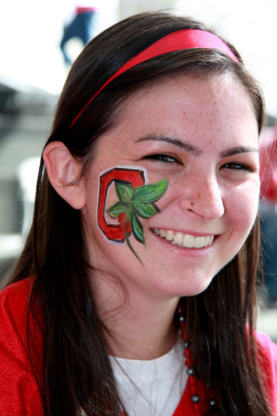2009 OSU vs Wisconsin Football Game Face Painting Tailgate