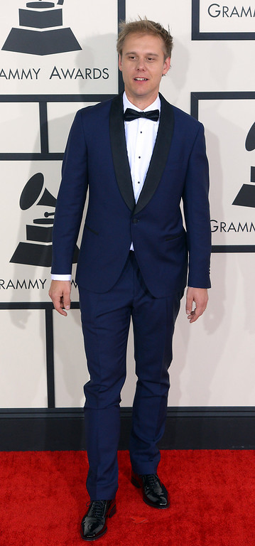 . Arimin Van Buren arrives at the 56th Annual GRAMMY Awards at Staples Center in Los Angeles, California on Sunday January 26, 2014 (Photo by David Crane / Los Angeles Daily News)