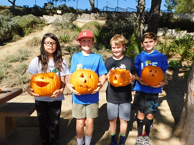 Pumpkin Carving Time at La Cañada Elementary