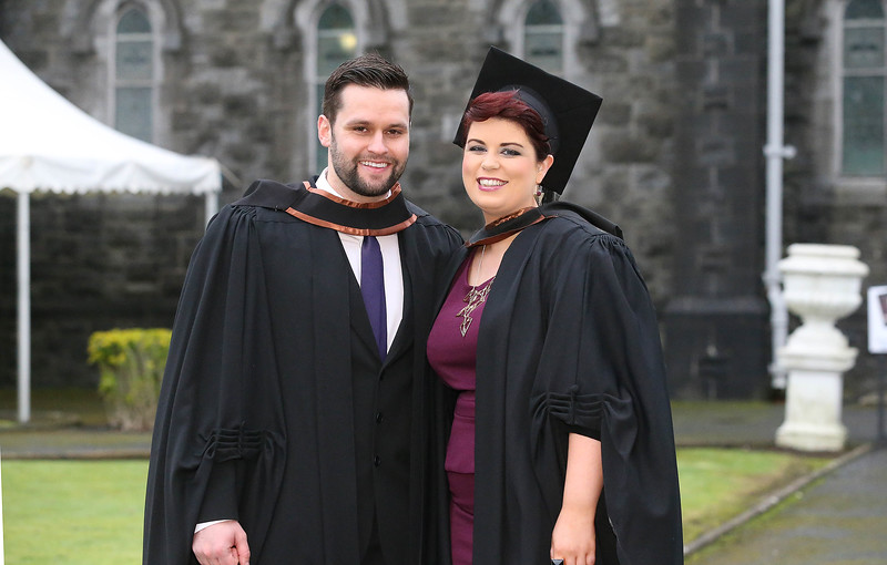 Pictured are Edward Whelan from Clonmel and Kate Murphy from Cork who graduated in Bachelor of Arts Honours in Psychiatric Nursing. Picture: Patrick Browne