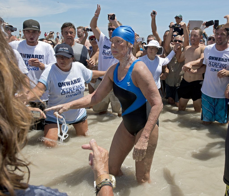 """. <p>5. DIANA NYAD <p>Her Cuba-to-Florida swim being questioned by skeptics, many of whom cannot even swim themselves. (unranked) <p><b><a href=\'http://www.twincities.com/sports/ci_24051401/diana-nyad-marathon-swimmer-meet-her-skeptics\' target=\""""_blank\""""> HUH?</a></b> <p>    (AP Photo/Florida Keys Bureau, Andy Newman, File)"""