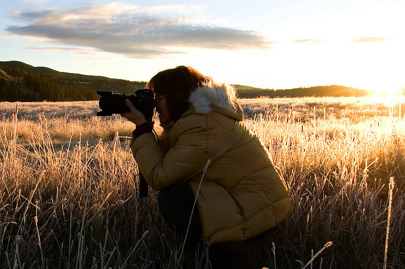Judi Lee joined us on our morning in the Bragg Creek area shoot