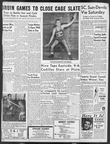 Daily Trojan, Vol. 39, No. 92, March 04, 1948