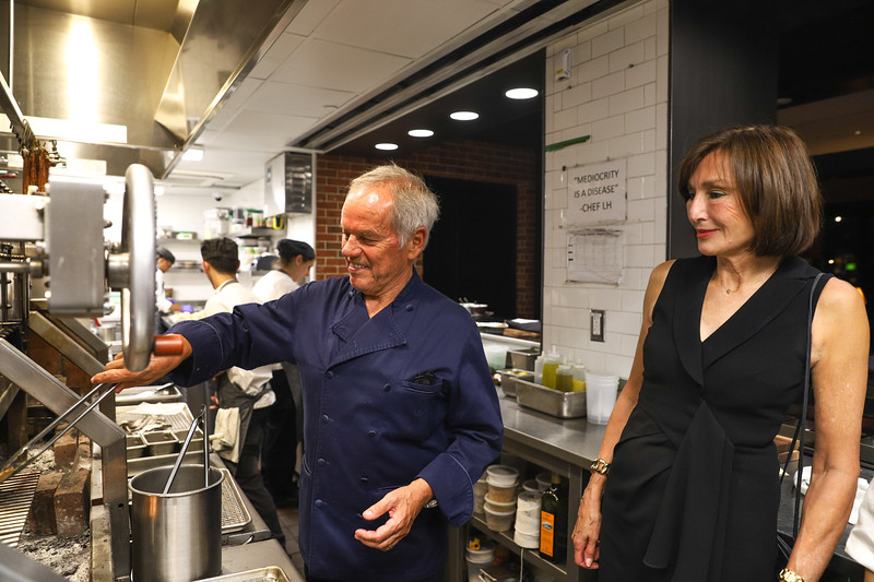 Wolfgang Puck and Ambassador of Monaco. photo by Bruce Allen, Wolfgang Puck Opening Reception 2019