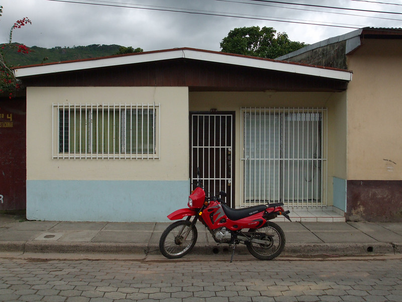 Front view of house on street in Jinotega