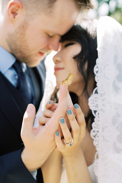 SPRINGS PRESERVE - Butterfly Garden - Intimate Las Vegas Wedding