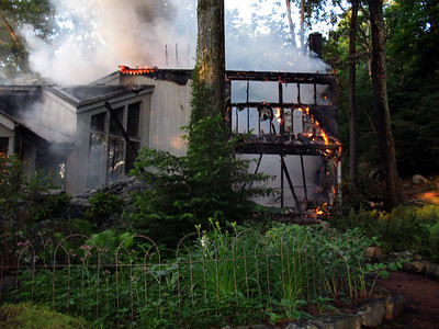 6-25-10 Structure Fire,  South Highland Road, Putnam Valley