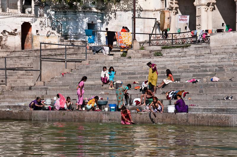 Dhobi Whallahs washing clothes