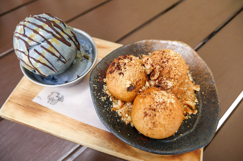 Sata Andagi and Black Sesame Ice Cream