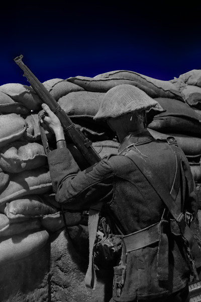 World War I Allied Trench