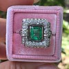 1.60ctw Emerald and Diamond Cocktail Ring 6