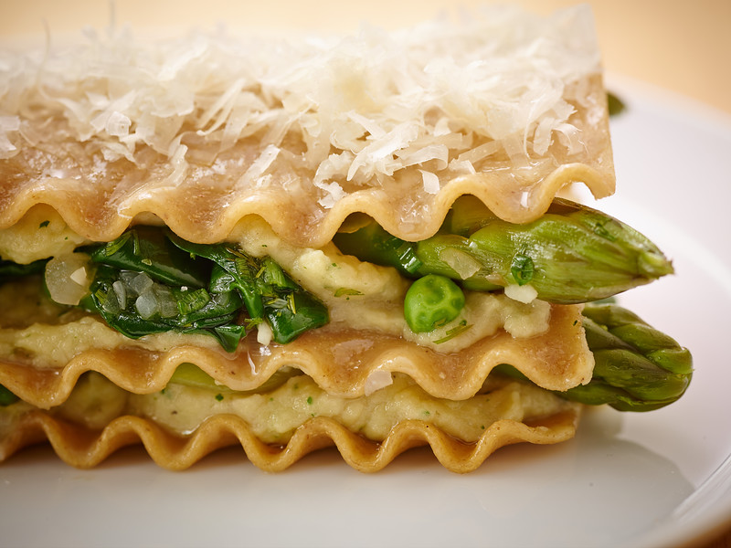 The Culinary Institute of America's Individual Lasagnas with Spring Vegetables recipe showcases the very best veggies of the season.