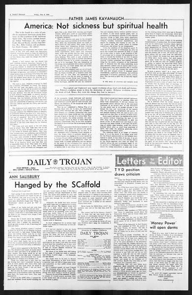 Daily Trojan, Vol. 59, No. 67, February 09, 1968