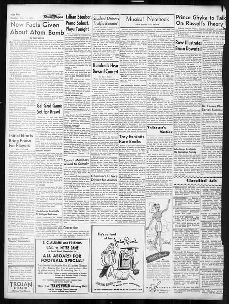 Daily Trojan, Vol. 38, No. 46, November 18, 1946