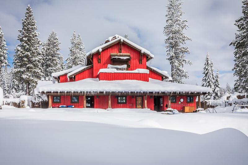 Martis Camp Family Barn Snow
