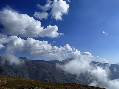 Clouds above Veleta and Mulhacen 26 Aug 2013