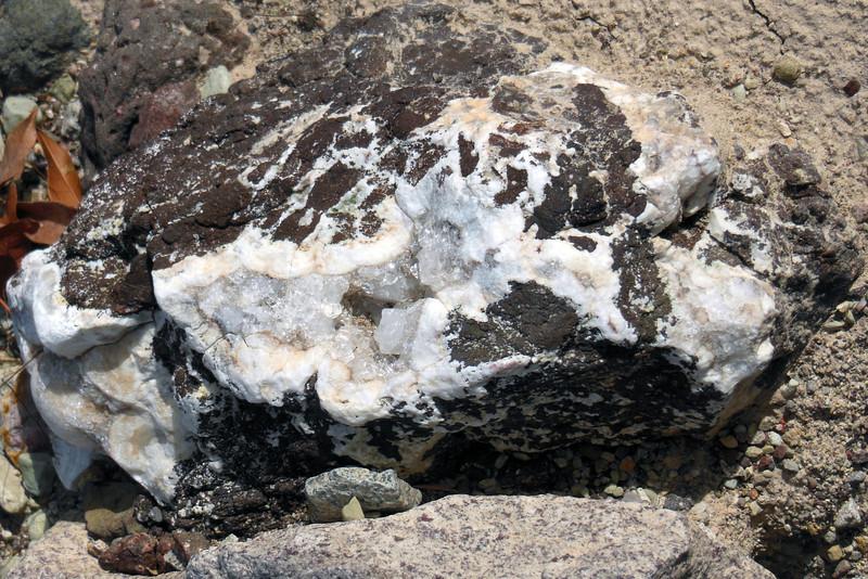 Nice crystals formed inside some basalt (?).