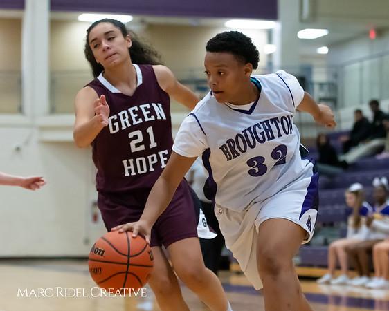 Broughton JV girls basketball vs Green Hope. December 4, 2018, MRC_5540
