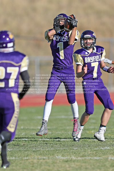 September 26, 2016 Bayfield High School Junior Varsity Football vs Bloomfield