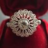 .85ctw Old European Cut Floral Motif Ring 0