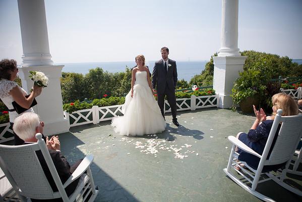 Mackinac Island Grand Hotel Porch Wedding Photography