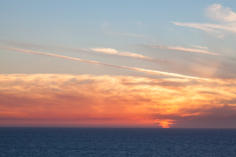 Fantastic sunsets over the sea
