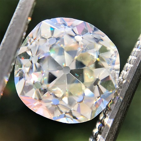 2.13ct Antique Cushion Cut Diamond GIA K SI1