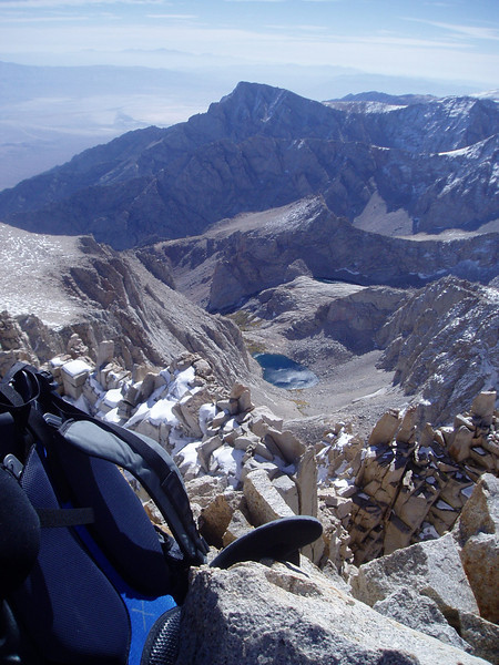 Upper Boy Scout Lake and Lone Pine Peak from the Summit of Mt. Russell