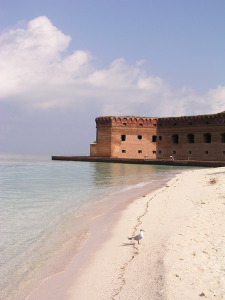 Fort Jefferson National Park is 60 miles west of Key West and can be reached by either boat or seaplane.