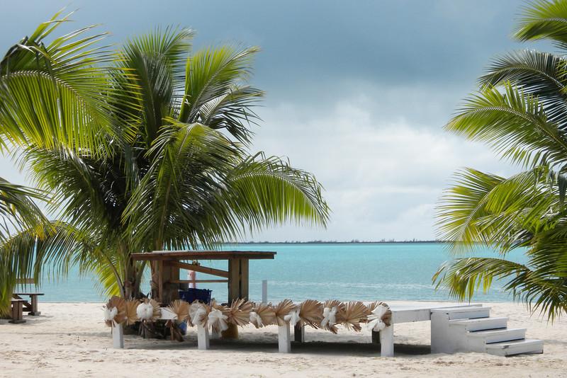 Beach at Four Points Restaurant, Eleuthera Island