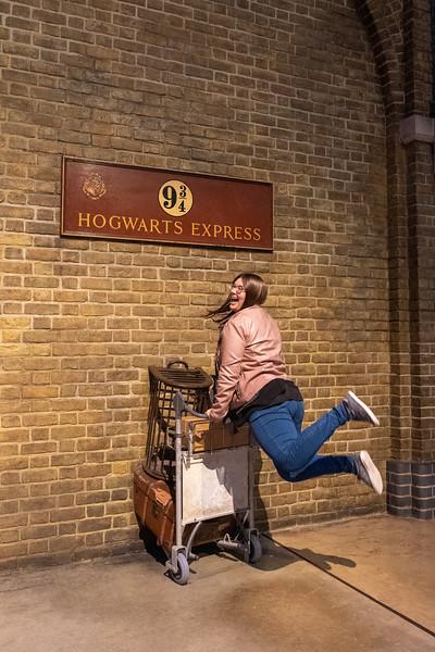 Platform 9 3/4 at Warner Bros. Studio Tour London