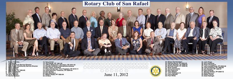 Rotary Club of San Rafael Group Photo June 11, 2012