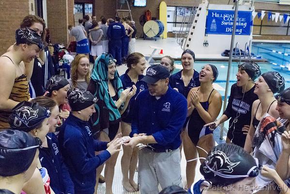 2012-11-03 Hillsdale College Women's Swimming vs. Findlay-Malone