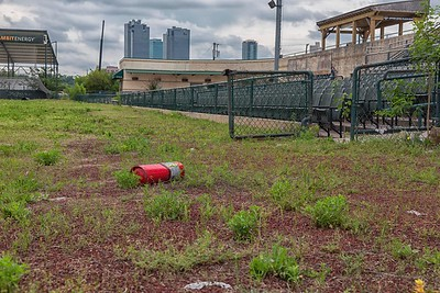 abandoned baseball stadium