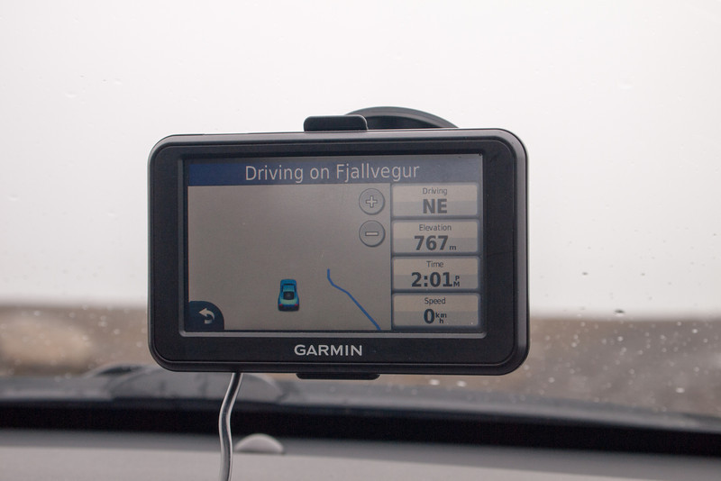 Fog and no road in sight on the GPS