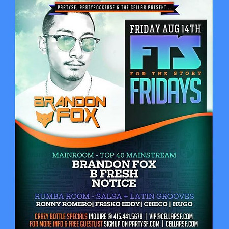Party SF presents FTS @ CellarSF 8.14.15