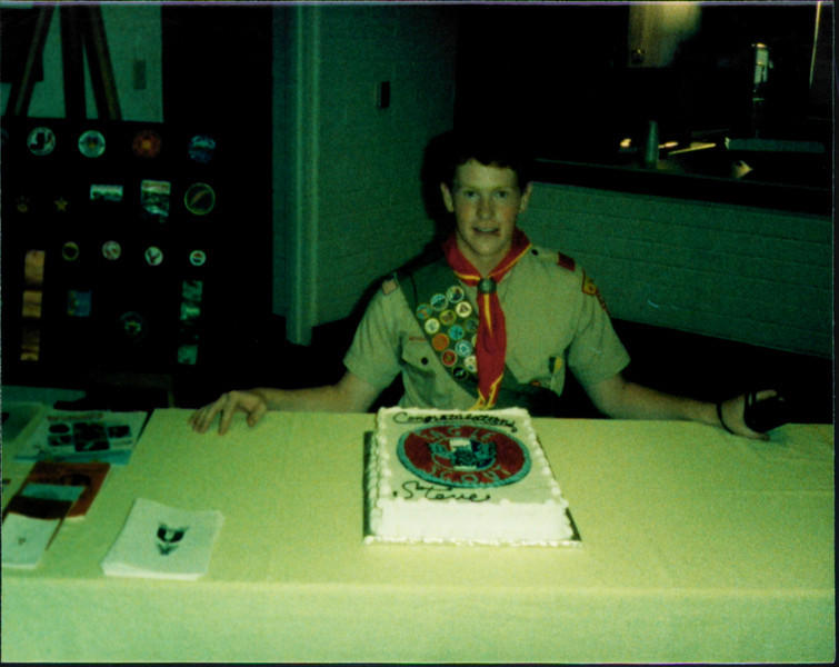 Stephen with this Eagle Scout Cake
