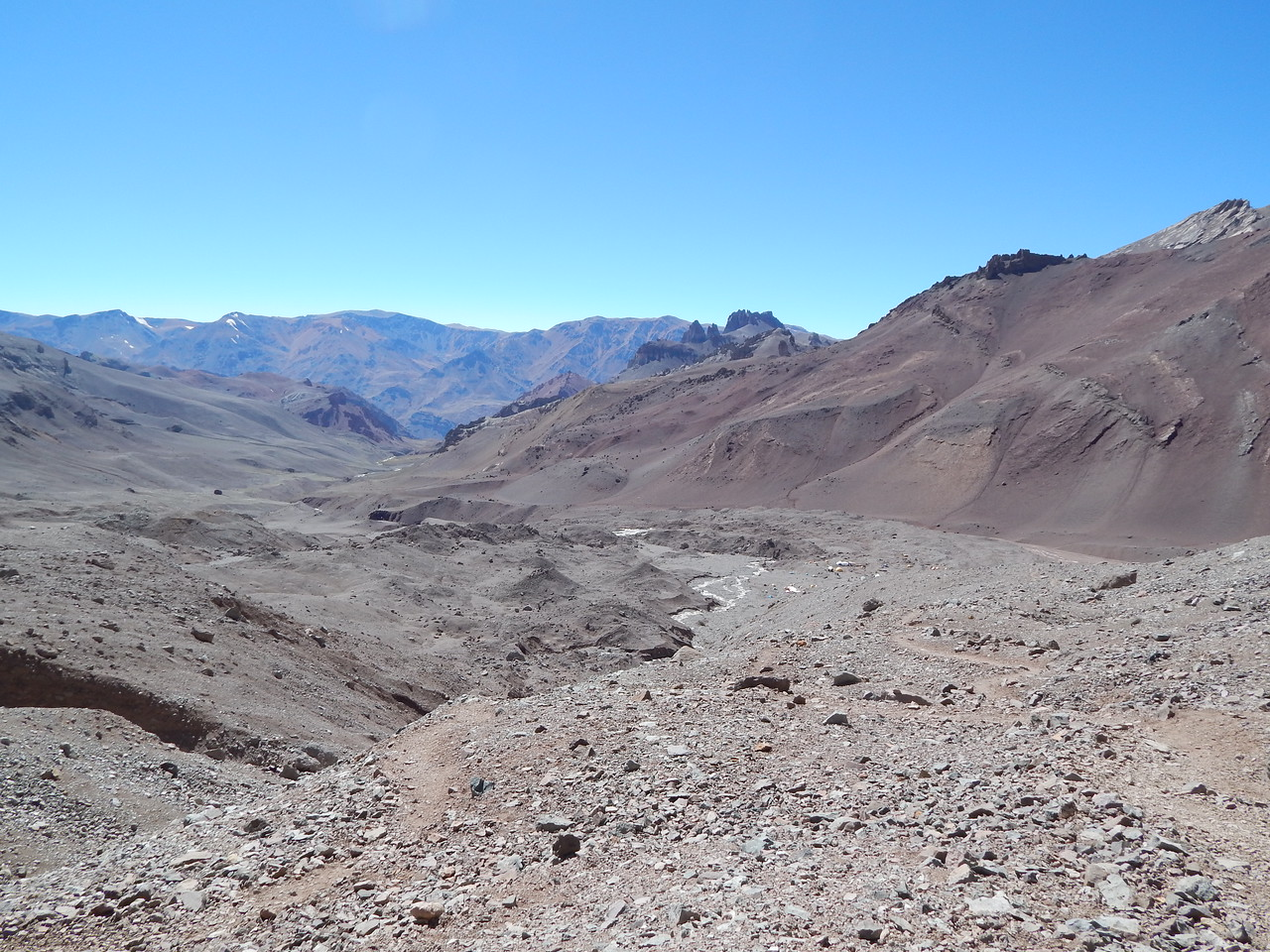 View from Camp 1 towards Base Camp