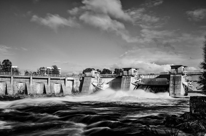 Merikoski hydropowerplant in Oulu