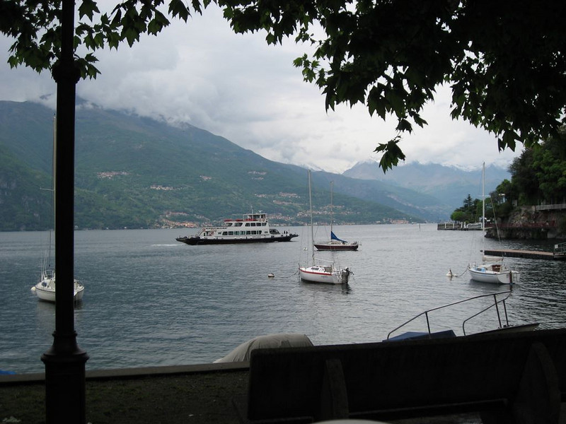 View from a restaurant in Varenna