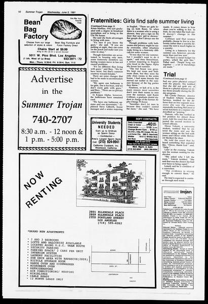 Summer Trojan, Vol. 115, No. 4, June 05, 1991