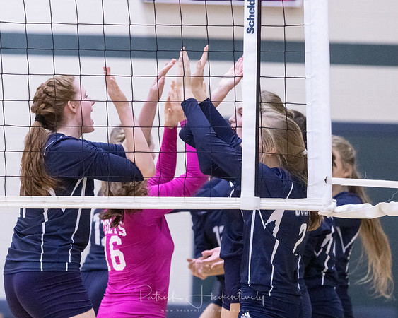 2018-11-01 Hillsdale Academy Varsity Volleyball vs. Pittsford - District