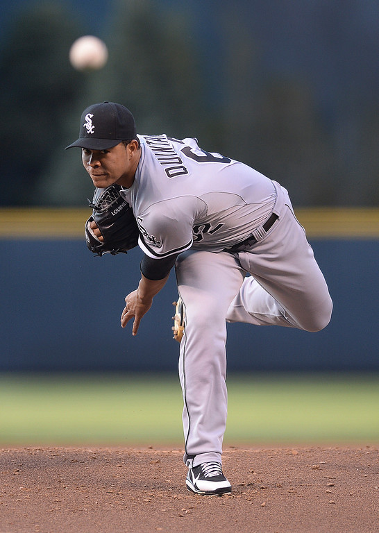 . Chicago starting pitcher Jose Quintana got the win Tuesday night.  The Chicago White Sox clobbered the Colorado Rockies 15-3 Tuesday night, April 8, 2014 at Coors Field in Denver.  (Photo by Karl Gehring/The Denver Post)