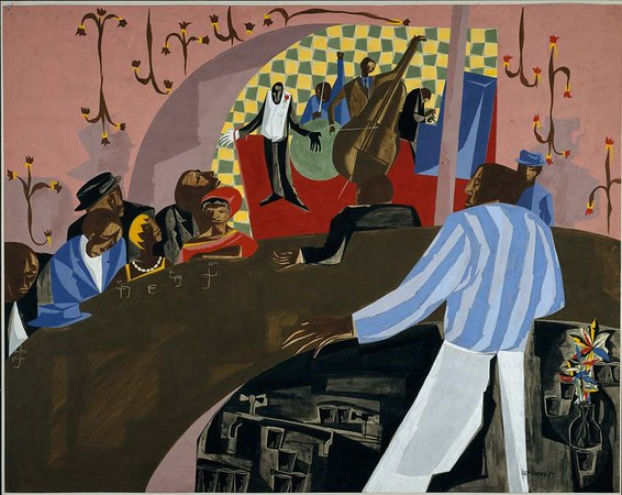 "Jacob Lawrence, ""Cafe Comedian,"" 1957"