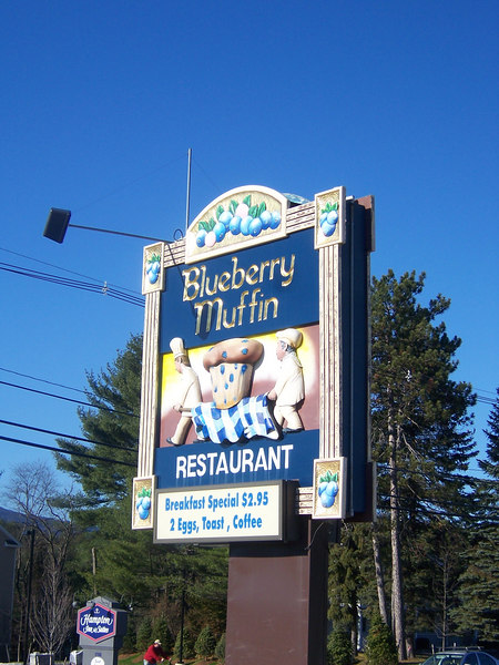 The sign is cool, the muffins are, in fact, delicious, highly reccommended if you're swinging through Conway, NH.