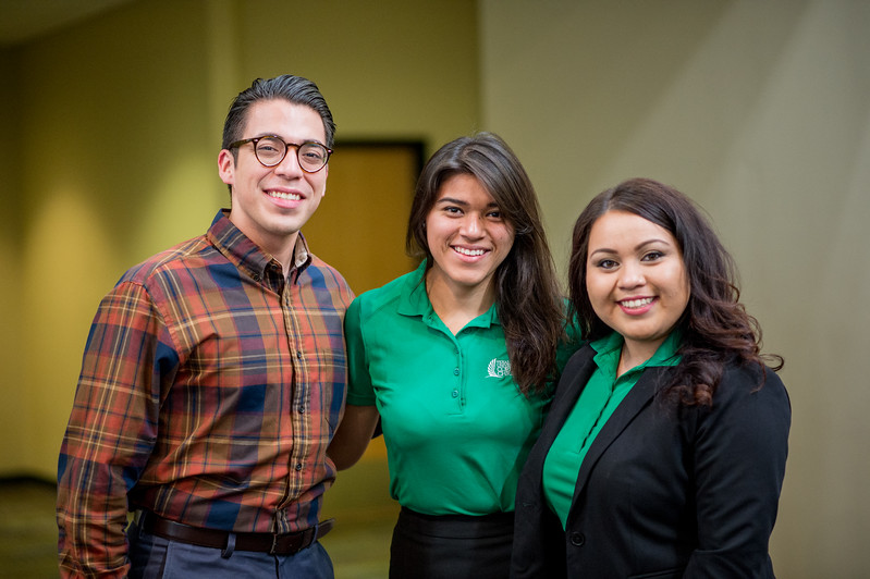 Frank Garcia(left) Irma torres and Karina Gomez.