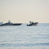 Gibraltar - Guardia Civil patrol around Spanish fishing boats